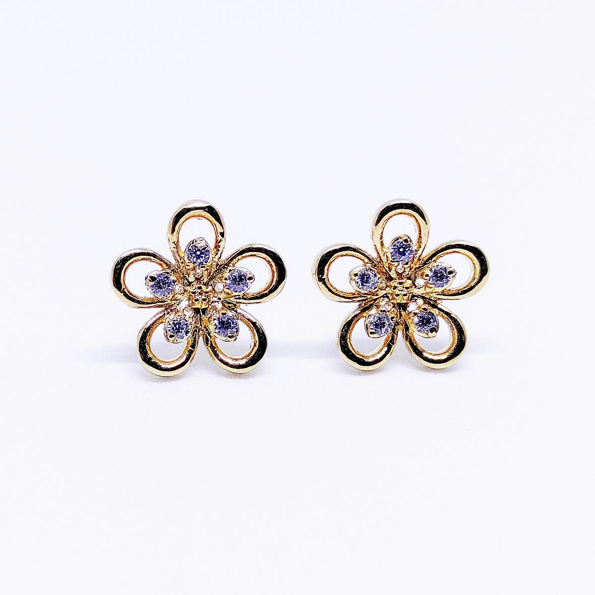 BLOSSOM - Flower Shaped Earrings - Yellow