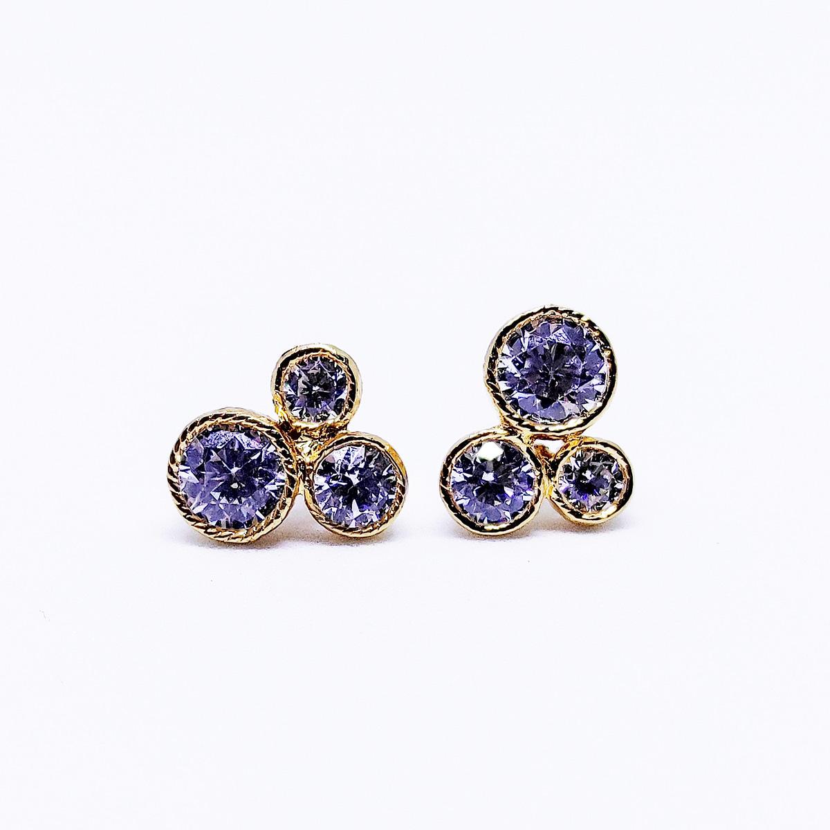 DISNEY - Earrings With Cubic Zirconia - Yellow