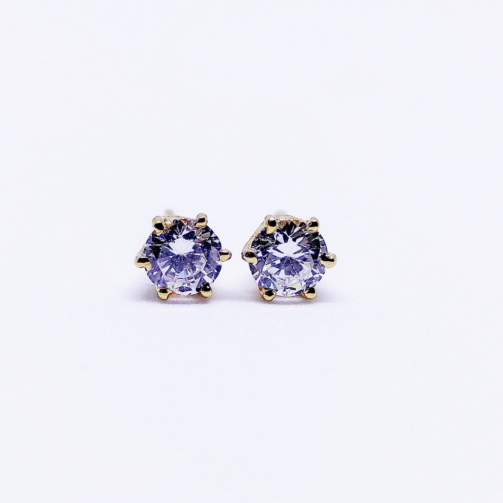CLASSIC - Solitaire Earrings - Yellow