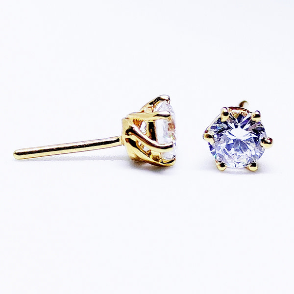 CLASSIC - Solitaire Earrings - Yellow - 2