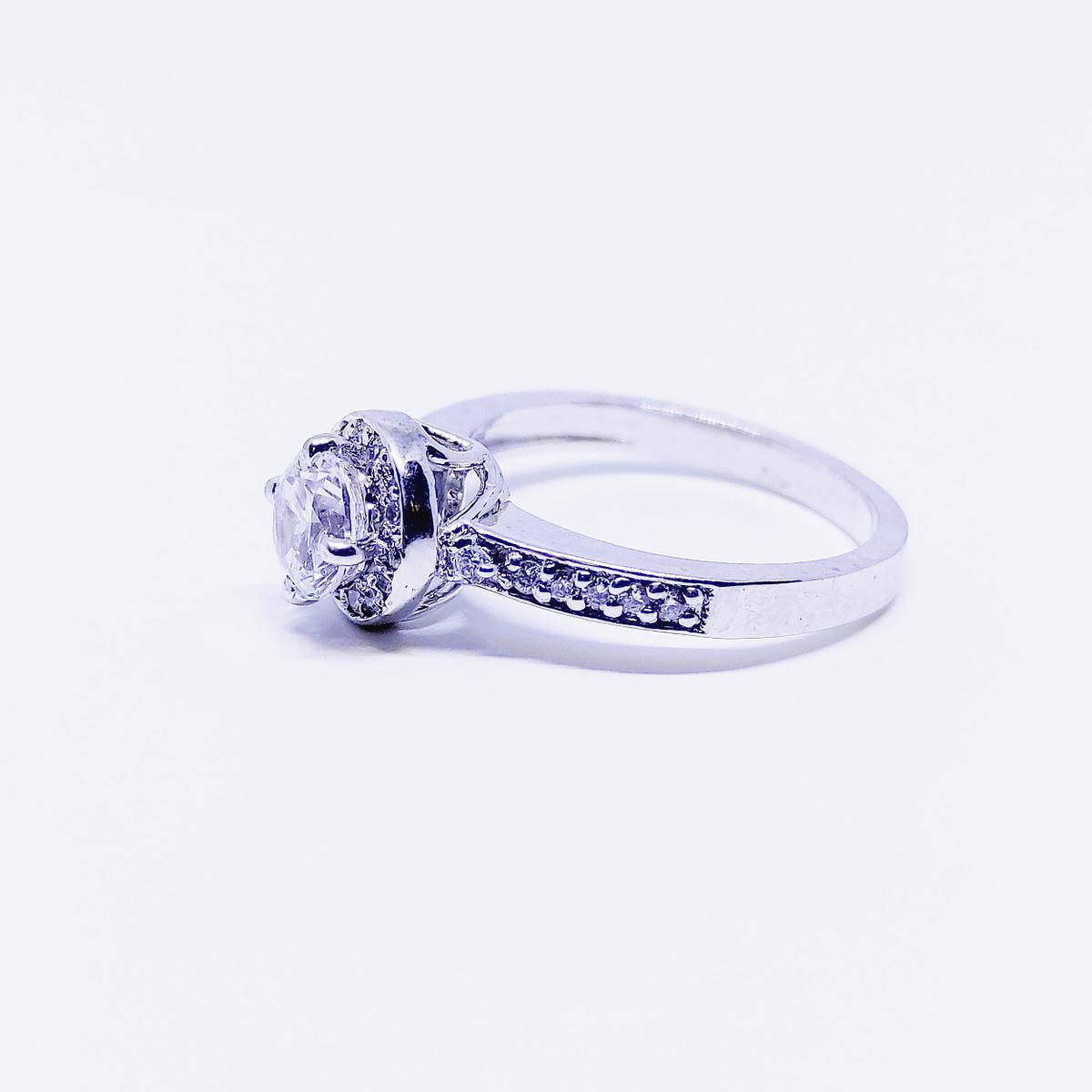 BRILLIANCE - Round Halo Ring