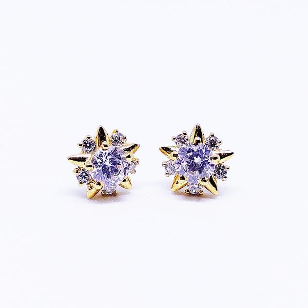 TWINKLE - Star Shaped Earrings - Yellow